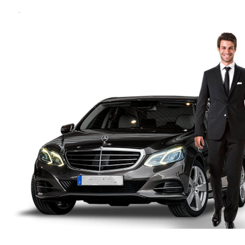 VIP Luxury Chauffeur Services. Driver and Luxury Sedan